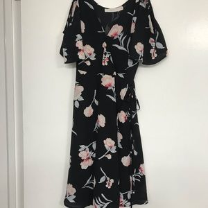 Lush cold shoulder floral dress